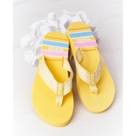 Women's Flip-flops Big Star HH274A055 Yellow 6