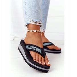 Women's flip-flops on the wedge Big Star HH274A096 Black grey 2