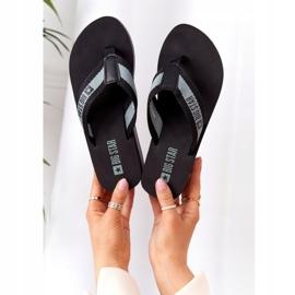 Women's flip-flops on the wedge Big Star HH274A096 Black grey 1