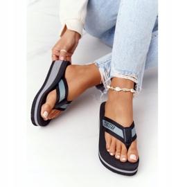 Women's flip-flops on the wedge Big Star HH274A096 Black grey 4