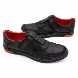 Polbut Men's casual leather shoes 2102 black 4