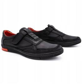 Polbut Men's casual leather shoes 2102 black 3