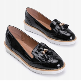 Golden hour black lacquered loafers 2