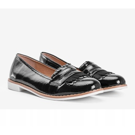 Black Perfect Lady lacquered loafers 1