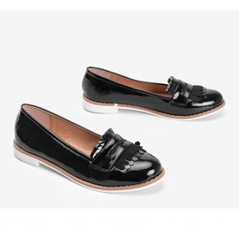 Black Perfect Lady lacquered loafers 2