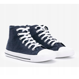 Men's navy blue sneakers Gin ankle 1