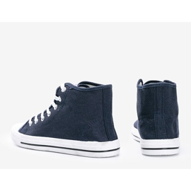 Men's navy blue sneakers Gin ankle 2