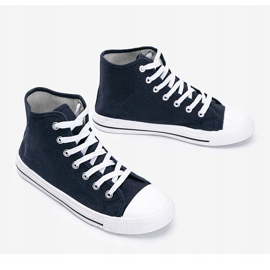 Men's navy blue sneakers Gin ankle 3