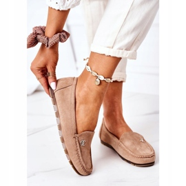 PS1 Women's Suede Loafers Light Brown Madelyn beige 2