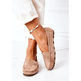 PS1 Women's Suede Loafers Light Brown Madelyn beige 1