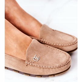 PS1 Women's Suede Loafers Light Brown Madelyn beige 5