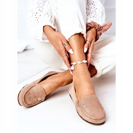 PS1 Women's Suede Loafers Light Brown Madelyn beige 6