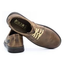 Joker Men's leather shoes 536J brown 4