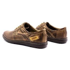 Joker Men's leather shoes 536J brown 7