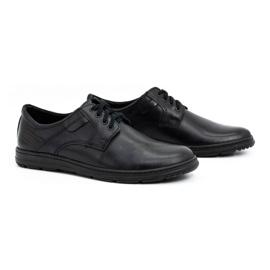 Joker Black men's leather shoes 536J 2