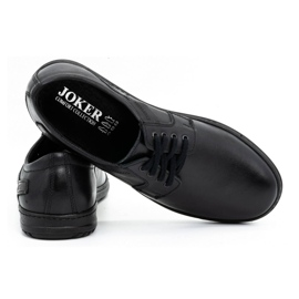 Joker Black men's leather shoes 536J 4