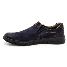 Joker Men's leather slip-on shoes 507J navy blue 2