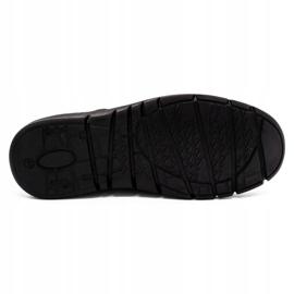 Joker Men's leather slip-on shoes 507J navy blue 1
