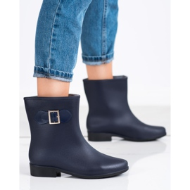 SHELOVET Rubber galoshes with buckle navy blue 2