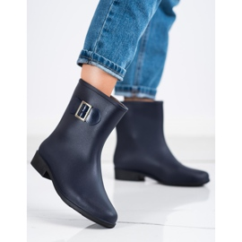 SHELOVET Rubber galoshes with buckle navy blue 3