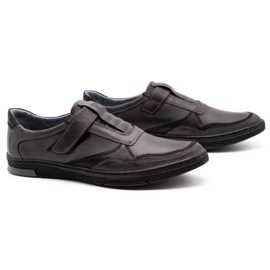 Polbut Men's casual leather shoes 2102 gray grey 3