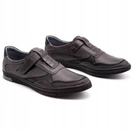 Polbut Men's casual leather shoes 2102 gray grey 4