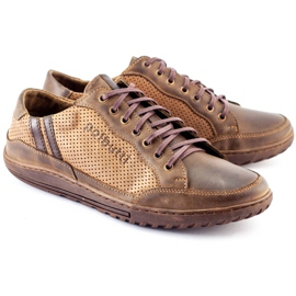 Polbut JOK31 brown casual men's shoes 2