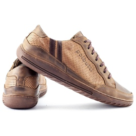 Polbut JOK31 brown casual men's shoes 4