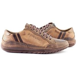 Polbut JOK31 brown casual men's shoes 7