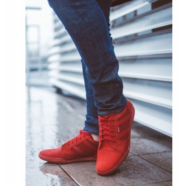 Polbut Casual men's shoes R3 Perforation red 5