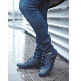 Polbut Men's casual shoes R3 Perforation Navy Blue 1