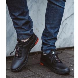 Polbut Black casual leather men's shoes K24 5