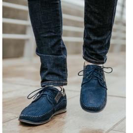 Olivier Men's leather loafers 4228 navy blue 3