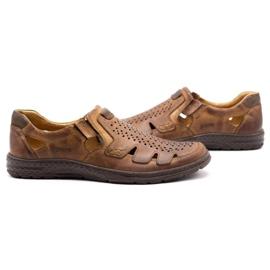 Joker Men's summer leather shoes, slip-on 500J brown 8