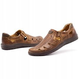 Joker Men's summer leather shoes, slip-on 500J brown 9