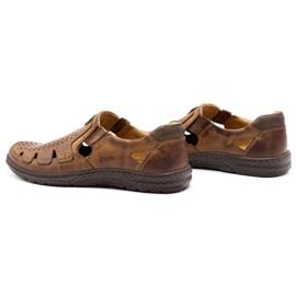 Joker Men's summer leather shoes, slip-on 500J brown 10