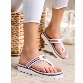 Filippo Leather Flip Flops white 1