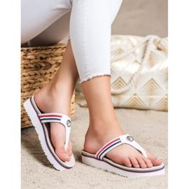Filippo Leather Flip Flops white 3