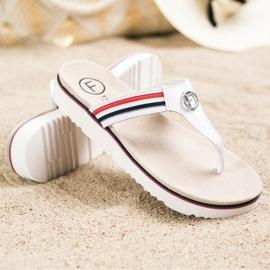 Filippo Leather Flip Flops white 2