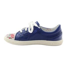 Girls' low shoes flowers Bartek 15524 white violet blue pink green 2
