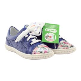 Girls' low shoes flowers Bartek 15524 white violet blue pink green 4