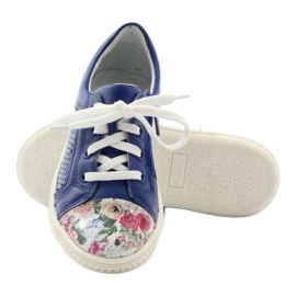 Girls' low shoes flowers Bartek 15524 blue multicolored 3