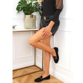 Black Women's black loafers GQ05 Black 2