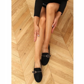 Black Women's black loafers GQ05 Black 1