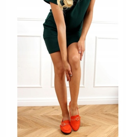 Orange women's moccasins GQ05 Orange 2