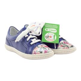Girls' low shoes flowers Bartek 15524 blue multicolored 4