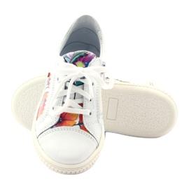 Girls' low shoes flowers Bartek 15524 white violet orange green 3