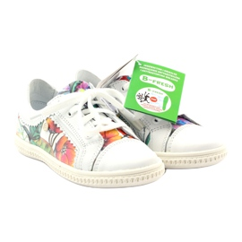 Girls' low shoes flowers Bartek 15524 white violet orange green 4