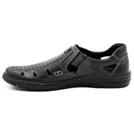 Joker Men's summer leather shoes, slip-on 500J gray grey 2
