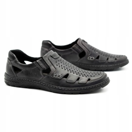 Joker Men's summer leather shoes, slip-on 500J gray grey 3